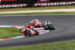 Chaz Davies (Ducati), Jonathan Rea (Kawasaki) & Marco Melandri (Ducati)