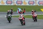 Jonathan Rea (Kawasaki), Chaz Davies (Ducati) & Marco Melandri (Ducati)