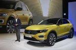 VW-Pkw-Vorstandsvorsitzender Dr. Herbert Diess stellt den Volskwagen T-Roc 2017 vor