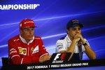 Kimi Räikkönen (Ferrari) und Felipe Massa (Williams)