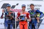 Maverick Vinales, Andrea Dovizioso und Valentino Rossi