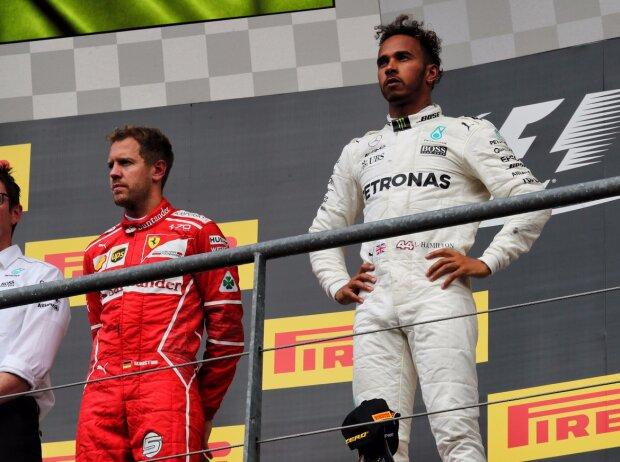 Sebastian Vettel, Lewis Hamilton, Daniel Ricciardo