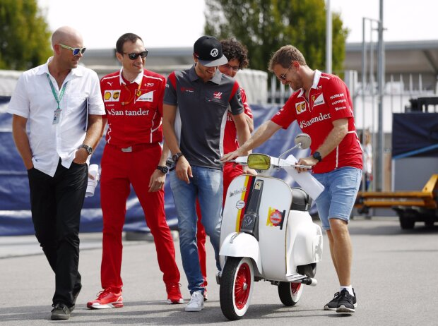 Antonio Giovinazzi, Sebastian Vettel