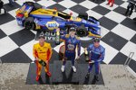 Alexander Rossi (Andretti), Ryan Hunter-Reay (Andretti) und Scott Dixon (Ganassi)