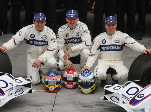 Jacques Villeneuve, Robert Kubica, Nick Heidfeld