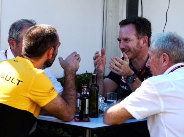 Christian Horner, Helmut Marko, Cyril Abiteboul
