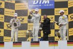 Paul di Resta (HWA-Mercedes 2), Robert Wickens (HWA-Mercedes) und Marco Wittmann (RMG-BMW)