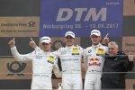Robert Wickens (HWA-Mercedes), Paul di Resta (HWA-Mercedes 2) und Marco Wittmann (RMG-BMW)