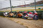 Moto3-Schrotthaufen