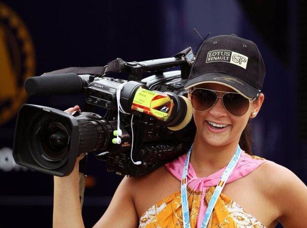 Kamerafrau in der Formel 1