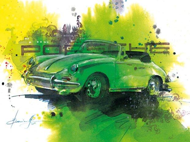 Porsche-Gemälde Barrientos