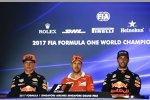 Sebastian Vettel (Ferrari), Max Verstappen (Red Bull) und Daniel Ricciardo (Red Bull)