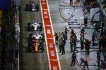 Fernando Alonso (McLaren), Lance Stroll (Williams), Felipe Massa (Williams) und Romain Grosjean (Haas)