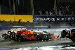 Max Verstappen (Red Bull), Fernando Alonso (McLaren) und Kimi Räikkönen (Ferrari)