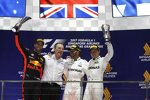Lewis Hamilton (Mercedes), Daniel Ricciardo (Red Bull) und Valtteri Bottas (Mercedes)