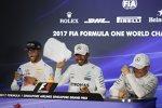 Daniel Ricciardo (Red Bull), Lewis Hamilton (Mercedes) und Valtteri Bottas (Mercedes)