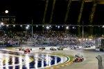 Sebastian Vettel (Ferrari), Lewis Hamilton (Mercedes), Kimi Räikkönen (Ferrari) und Max Verstappen (Red Bull)