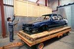 Rohkarosse des Opel Vectra im Opel-Werk Eisenach
