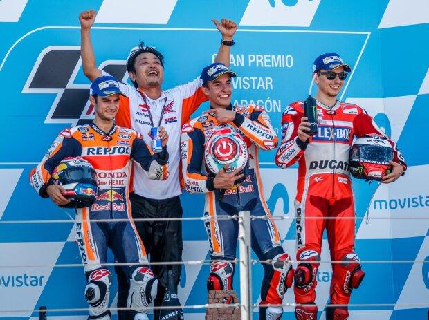 Dani Pedrosa, Marc Marquez, Jorge Lorenzo