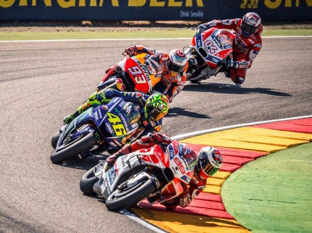 Jorge Lorenzo, Valenrino Rossi, Marc Marquez, Andrea Dovizioso
