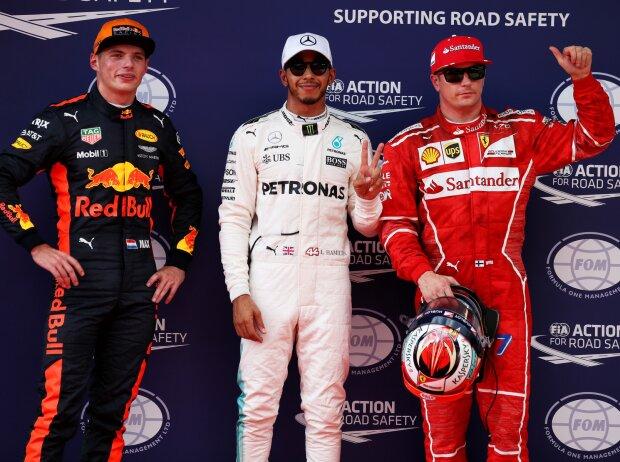Max Verstappen, Lewis Hamilton, Kimi Räikkönen