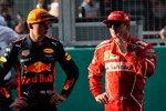 Max Verstappen (Red Bull) und Kimi Räikkönen (Ferrari)