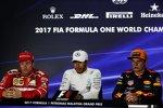 Lewis Hamilton (Mercedes), Max Verstappen (Red Bull) und Kimi Räikkönen (Ferrari)