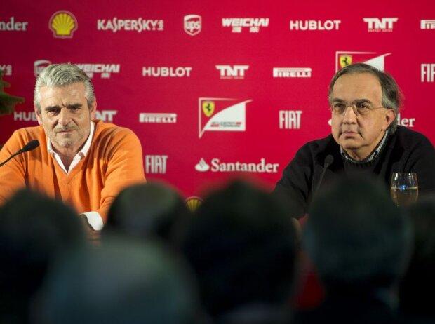 Maurizio Arrivabene und Sergio Marchionne, Maranello, November 2014