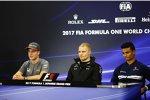 Stoffel Vandoorne (McLaren), Valtteri Bottas (Mercedes) und Pascal Wehrlein (Sauber)
