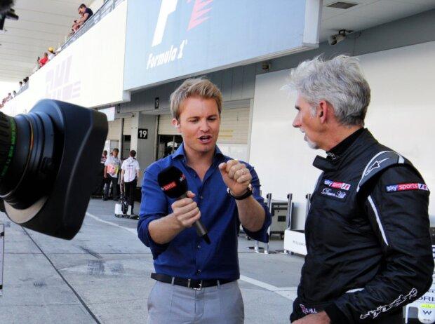 Nico Rosberg und Damon Hill