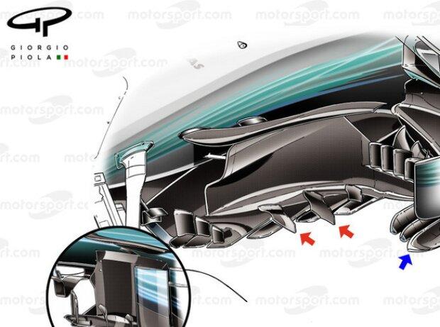 Mercedes F1 W08: Windabweiser, GP Malaysia