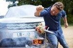 Land Rover Discovery von Starkoch Jamie Oliver: Der Drehspieß wird über einen Nebenabtrieb bewegt