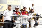 Jamie Green (Rosberg-Audi), Mike Rockenfeller (Phoenix-Audi) und Timo Glock (RMG-BMW)