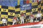 Arno Zensen, Mattias Ekström (Abt-Audi), Mike Rockenfeller (Phoenix-Audi) und Dieter Gass