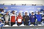 Jack Miller (Marc VDS), Danilo Petrucci (Pramac), Andrea Dovizioso (Ducati), Marc Marquez (Honda) und Andrea Iannone (Suzuki)