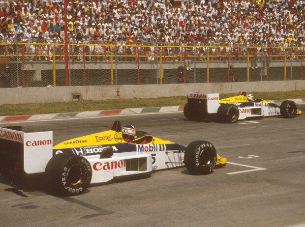 Nigel Mansell, Nelson Piquet
