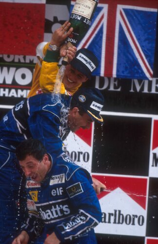 Nigel Mansell Riccardo Patrese Michael Schumacher Williams Williams Martini Racing F1 ~Nigel Mansell, Riccardo Patrese und Michael Schumacher ~