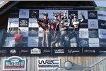 Thierry Neuville (Hyundai), Nicolas Gilsoul, Elfyn Evans (M-Sport), Daniel Barritt, Sebastien Ogier (M-Sport) und Julien Ingrassia
