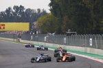 Marcus Ericsson (Sauber), Stoffel Vandoorne (McLaren), Romain Grosjean (Haas), Fernando Alonso (McLaren), Pascal Wehrlein (Sauber) und Brendon Hartley (Toro Rosso)