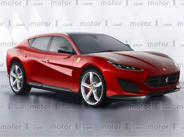Rendering eines möglichen Ferrari SUV, Codename FX16