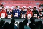 Jorge Lorenzo (Ducati), Daniel Pedrosa (Honda), Andrea Dovizioso (Ducati) und Johann Zarco (Tech 3)