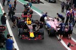 Max Verstappen (Red Bull) und Esteban Ocon (Force India)
