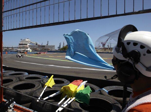 Formel 1 Blaue Flagge