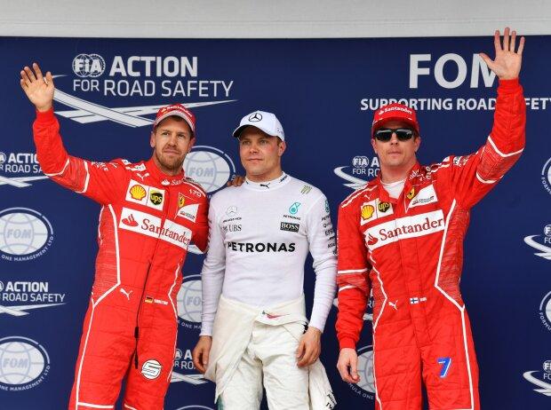 Sebastian Vettel, Valtteri Bottas, Kimi Räikkönen
