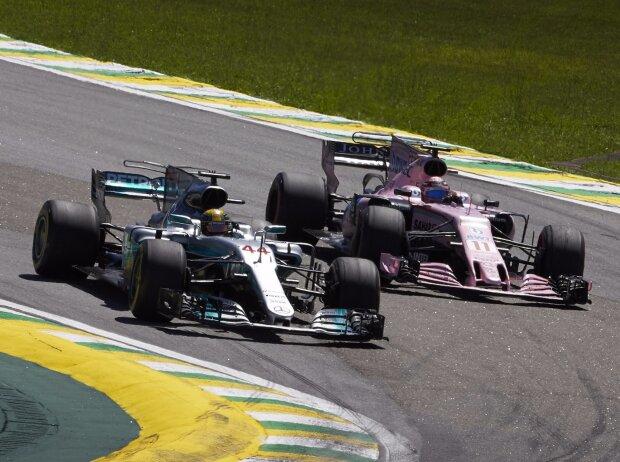Lewis Hamilton, Sergio Perez