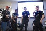 Niki Lauda, Lewis Hamilton, Toto Wolff & Andy Cowell