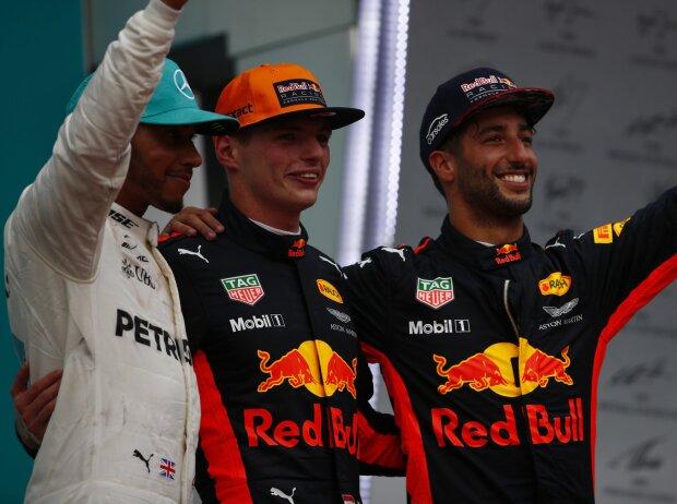 Lewis Hamilton, Max Verstappen, Daniel Ricciardo