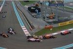 Max Verstappen (Red Bull), Sergio Perez (Force India) und Nico Hülkenberg (Renault)