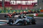 Valtteri Bottas (Mercedes), Lewis Hamilton (Mercedes), Sebastian Vettel (Ferrari) und Daniel Ricciardo (Red Bull)