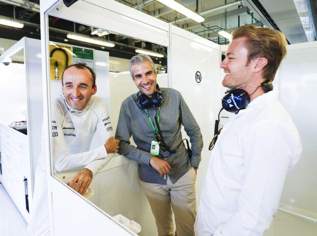 Robert Kubica, Alessandro Alunni Bravi und Nico Rosberg